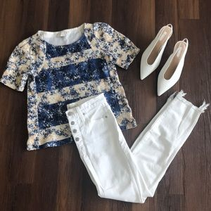 ✨SALE✨ anthropologie blouse short sleeve tee top